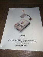 Apple Color LaserWriter Transparencies For Color LaserWriter 12/600 PS. 50 Total