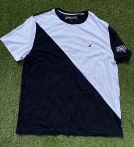 NAUTICA Blue Sail T Shirt Navy White Mens Size XL