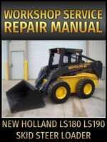 New Holland LS180 LS190 Skid Steer Loader Service Manual on CD
