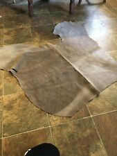 1 Piece Of Approx 38�x32� 10 Sqft Brown Sude Leather Hide