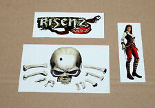 Risen 2 Dark Waters sticker set/pegatinas ps3 360 Xbox