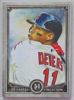 RAFAEL DEVERS 2020 TOPPS MUSEUM CANVAS COLLECTION BASEBALL CARD BOSTON RED SOX