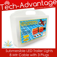 12V BOAT SUBMERSIBLE COMBINATION LED TRAILER LIGHTS PACKAGE  8M CABLE & 3 PLUGS