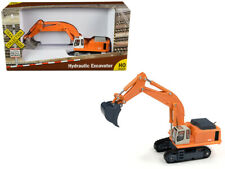 """Hydraulic Excavator Orange """"TraxSide Collection"""" 1/87 (HO) Scale Diecast Model b"""