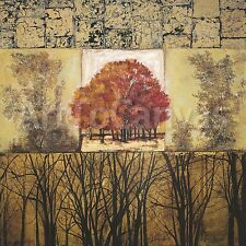 "39x39/"" AUTUMN FAIR by MARY LAMB SEPHIA TREE MONTAGE CANVAS"