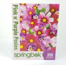 """Springbok 350 Piece Puzzle Pink n Purple Posies 2010 1JIG50011 18"""" x 23.5"""""""