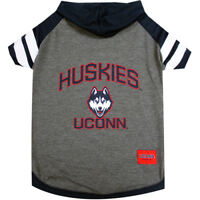 UCONN Huskies NCAA Pets First Officially Licensed Dog Pet Hoodie Tee Shirt XS-L