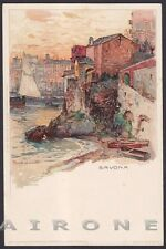 SAVONA CITTÀ 80 Illustratore MANUEL WIELANDT Cartolina primi '900