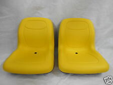 TWO YELLOW PIVOT STYLE SEATS JOHN DEERE CS & CX GATORS   39999 SERIAL NUMBER #OB