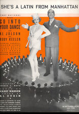 "GO INTO YOUR DANCE ""She's A Latin From Manhattan"" Al Jolson Ruby Keeler"