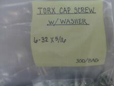 """(300) Torx Cap Screw 6-32 X 5/16"""" W/Washer"""
