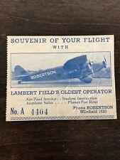 VTG Souvenir Flight with Lambert Field's Oldest Pilot William Robertson Aircraft