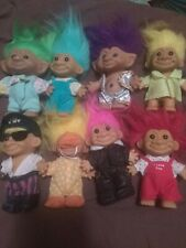 """lot of 8 different RUSS 5"""" Trolls excellent condition free shipping"""