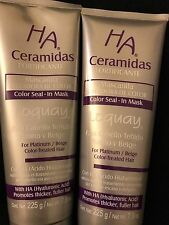 (2) Loquay HA Ceramidas Mascarilla Selladora De Color, Color Seal-in Mask 7.9oz