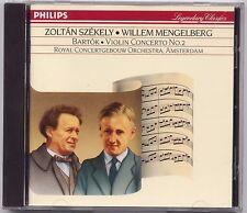 Bartok: Violin Concerto No 2 - Szekely Mengelberg CD PHILIPS PDO W GERMANY
