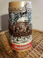 "Anheuser-Busch  ""C"" Series Budweiser Christmas Stein Mug--handcrafted limited"