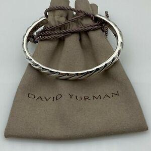 David Yurman Men's Modern 10mm Cable Cuff Bracelet In Sterling Silver size M
