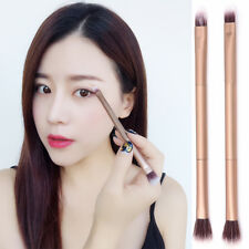 Double-headed Retractable Lip Brush Eye Liner Eyeshadow Foundation Brush Gold.