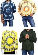 Mens T Shirt Hoodie - Long sleeve - Tie Dye