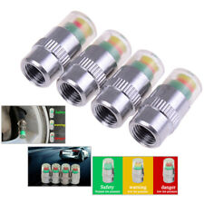 4PCS detecting pressure indicator tire monitor car alarm visible caps TS