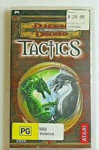 Dungeons & Dragons Tactics Sony PSP Playstation Portable with booklet