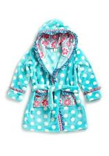 Matilda Jane SILVER PIECES Robe XS 2 Girls Blue Dot Plush Hooded Bath Pool NWT