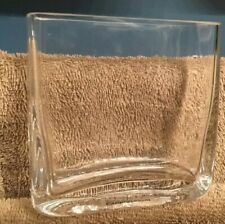 "Crate And Barrel Made In Poland 4"" Inch Clear Glass Vase"