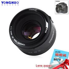 Yongnuo YN 50mm F/1.8 AF / MF Prime Fixed Lens & Gift For Canon EF EOS Camera UK