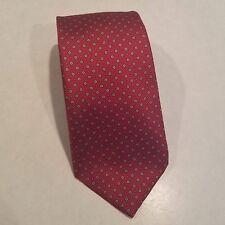 GUY LAROCHE PARIS Men's 100% Silk Necktie Made in U.S.A. Luxury Red EUC