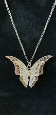Silver Butterfly with Crystal  Necklace Custom Jewellery