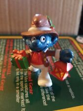 Smurfs Christmas Lantern Smurf 20201 Gift Present 1984 Vintage Figure PVC Toy