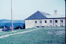 Vintage Slide 1950's US Army Base Soldiers Folding Flag Landstuhl Germany