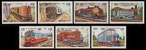 Kambodscha 1984 - Mi-Nr. 584-590 ** - MNH - Lokomotiven / Locomotives