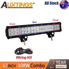 18INCH 108W  LED WORK LIGHT BAR FLOOD/SPOT COMBO FOG OFFROAD TRUCK JEEP+Wiring