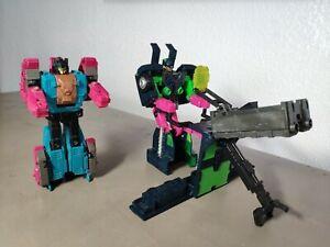 2 Figurines Robot Transformers Hasbro Takara 1991/92 VINTAGE G1 Hauteur 16cm