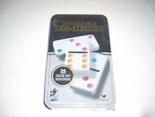 Double 6 Dominoes 28 Color Dot Dominoes Tin New in sealed tin
