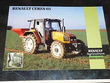Prospectus  Tracteur RENAULT CERES 65   prospekt brohcure traktor tractor