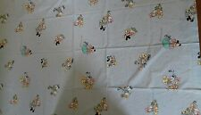 flat sheet mickey minnie bébé Disney  cti vintage 100%coton