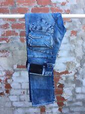 Men's Vintage Blade Slim G-Star Raw Distressed/Acid Wash Denim Jeans - Size 28