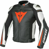 DAINESE SUPER SPEED-R LEATHER JACKET MOTORBIKE BLACK - RED - WHITE