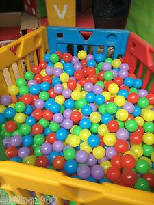 1000Pcs Counts Colorful Soft Plastic Pit Large Ball Various Colors 7cm Balls