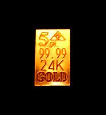 ACB Gold 5GRAIN BULLION MINTED Bars 9999 fine PURE 24K GOLD #