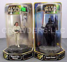Star Wars Epic Force Darth Vader & Princess Leia Display Base Rotate Figure 360°