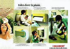 Publicité Advertising 078  1974   meubles armoire salle de bain Allibert (2pag