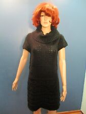 XL black SWEATER DRESS WITH WAIST BELT LOOPS by SAY WHAT