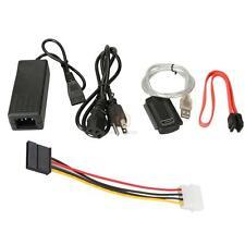New USB TO IDE SATA S-SATA Converter CABLE Adaptor w/ POWER CA