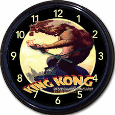 King Kong Horror Movie Poster Wall Clock Fay Wray Gorilla Ape Monkey NY 10""