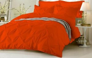 1000 TC Egyptian Cotton 1 PC Pinch Pleated Comforter US Sizes & Solid Colors
