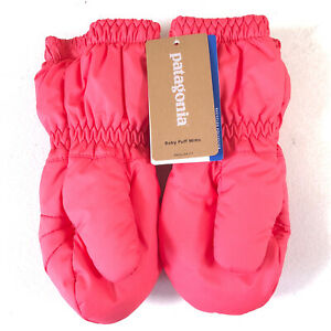 New Patagonia Baby Puff Mitts Insulated Range Pink 3-6 Months 60552 FA 19