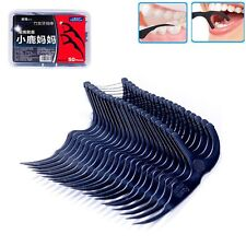 50pcs Interdental Brush Teeth Stick Bamboo Charcoal Dental Floss Oral Care